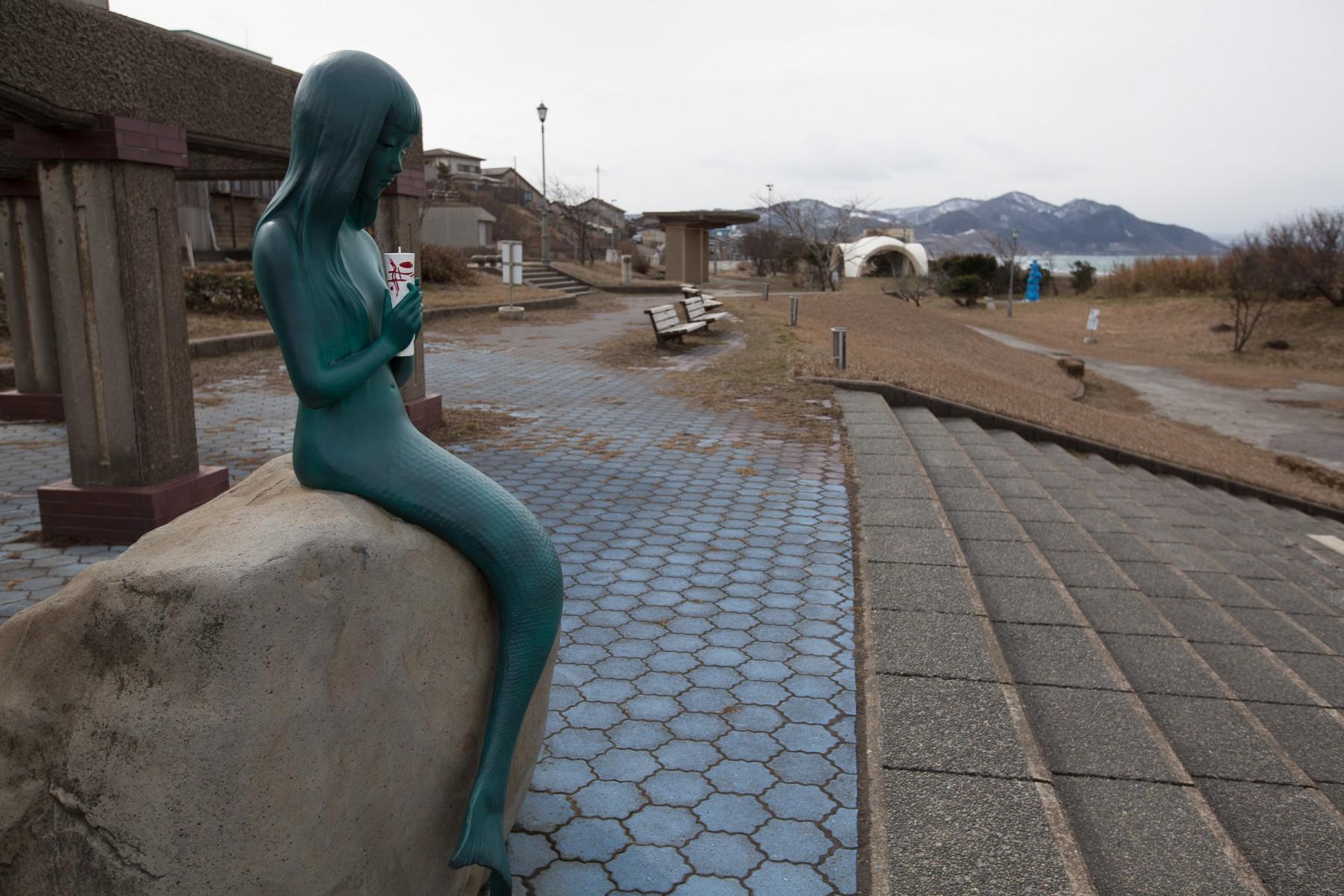 Mermaid statue in Joetsu, Japan.