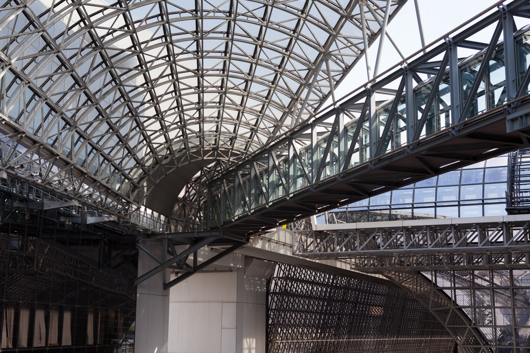 Kyoto station roof and skywalk
