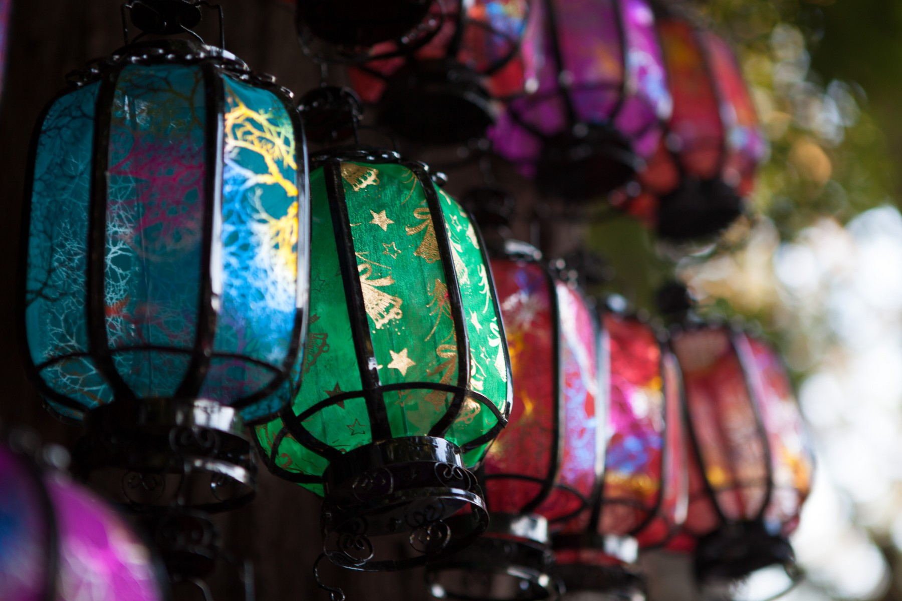 Beijing lanterns in the Xicheng District, Beijing, China.
