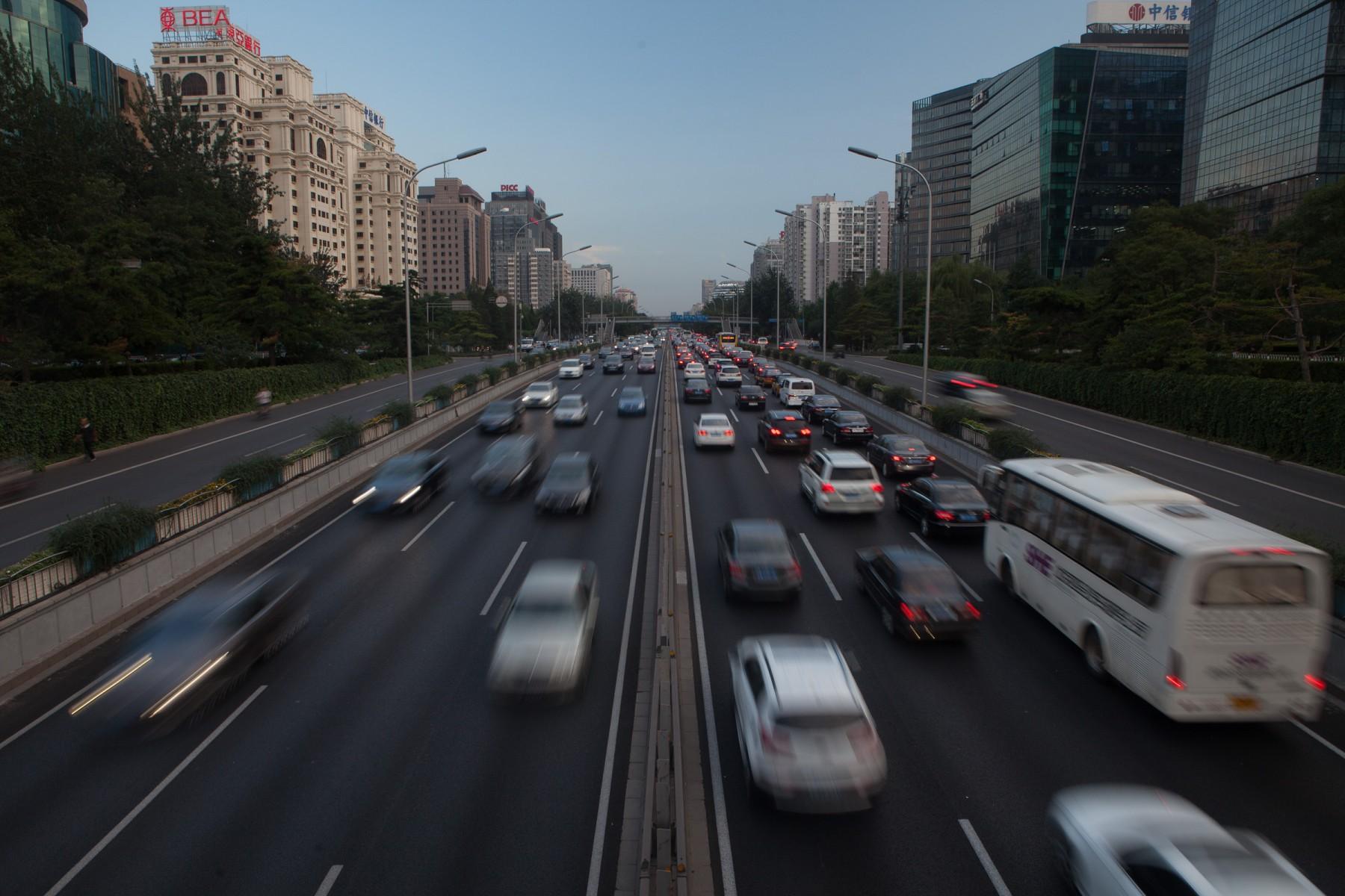 Beijing highway traffic