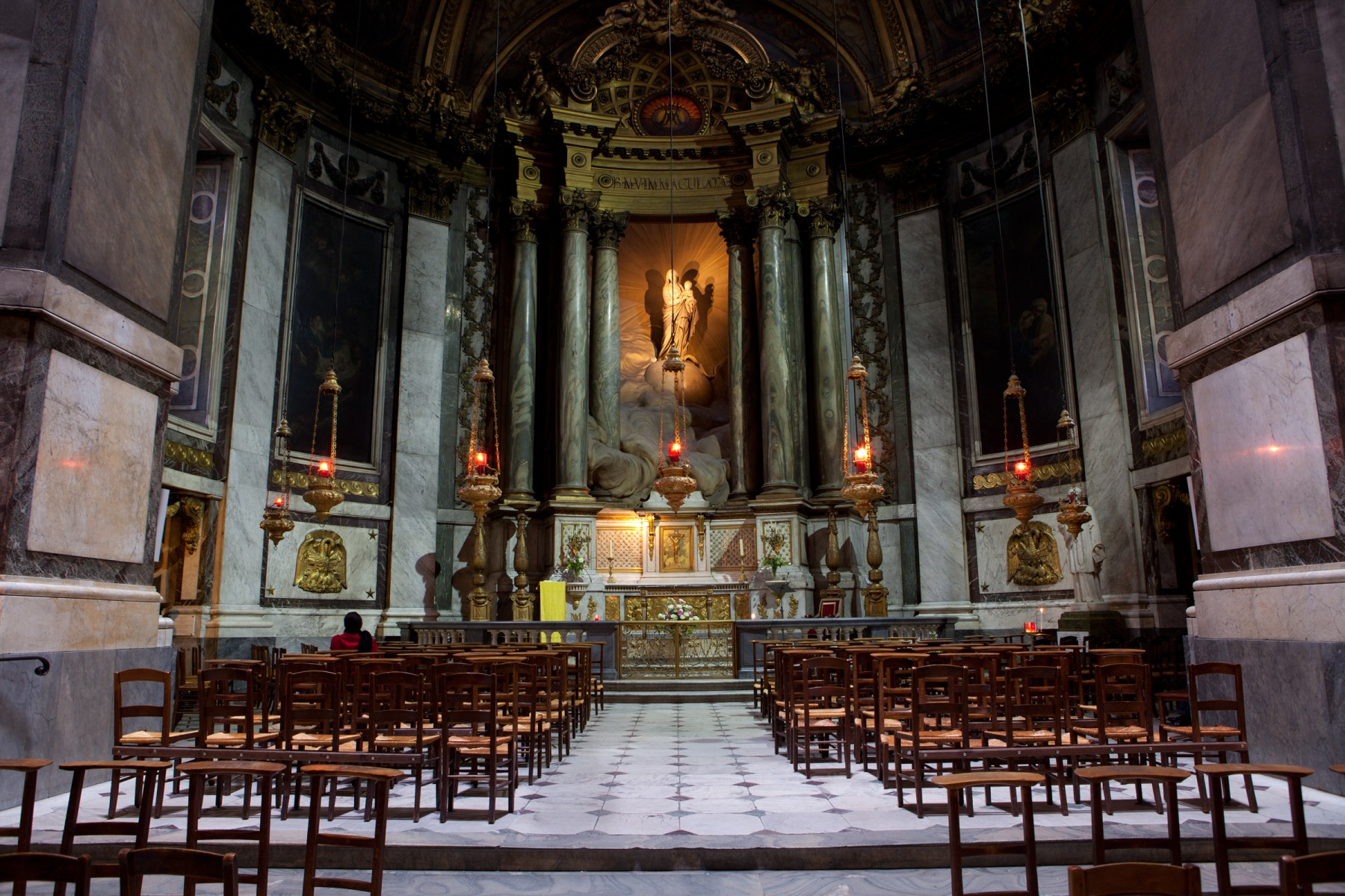 Interior of the Lady Chapel, Saint-Sulpice, Paris.