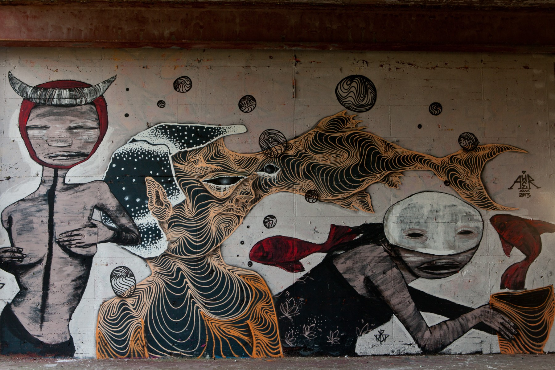 Murals at Teufelsberg