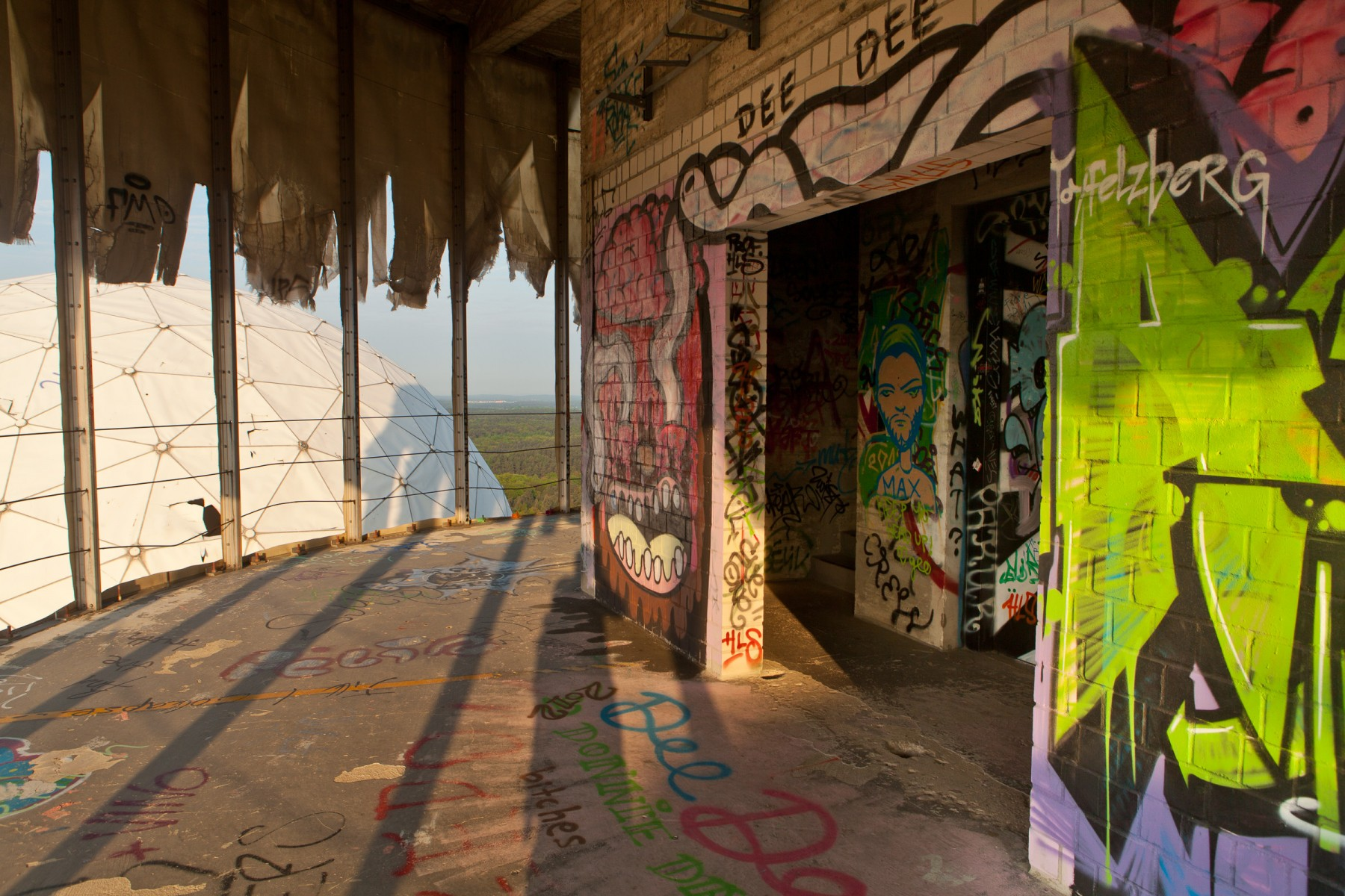 Graffiti at Teufelsberg.