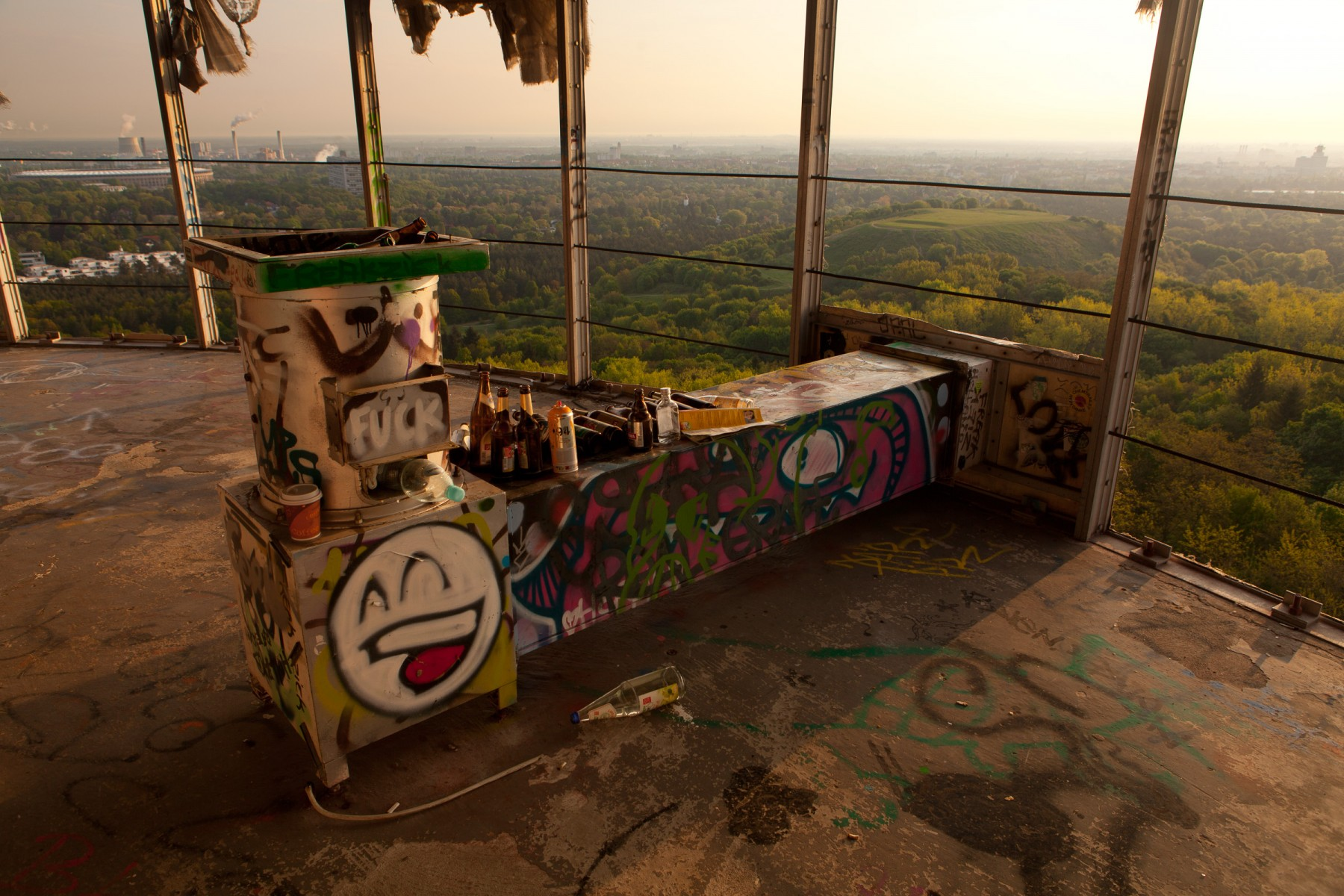 View from the top of Teufelsberg