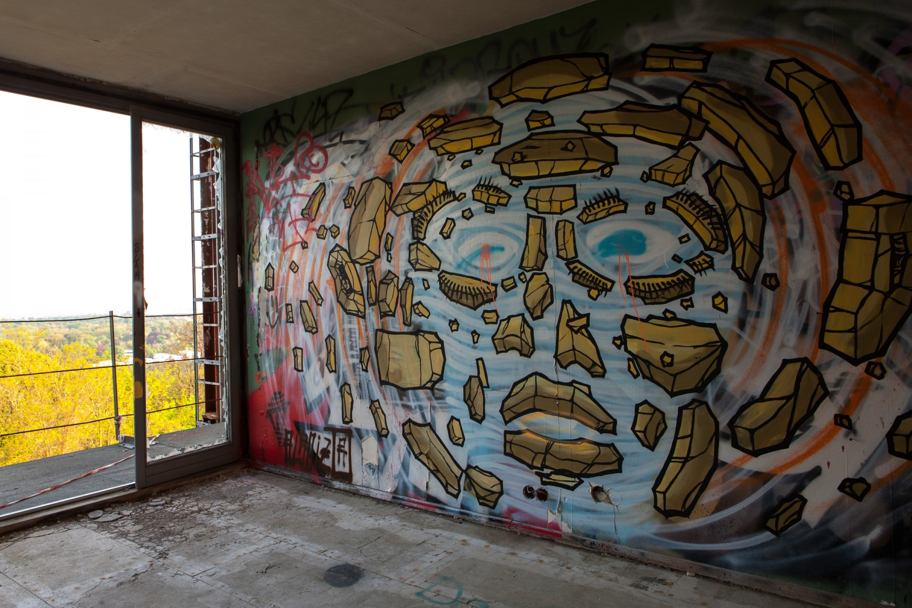Graffiti Murals at Teufelsberg