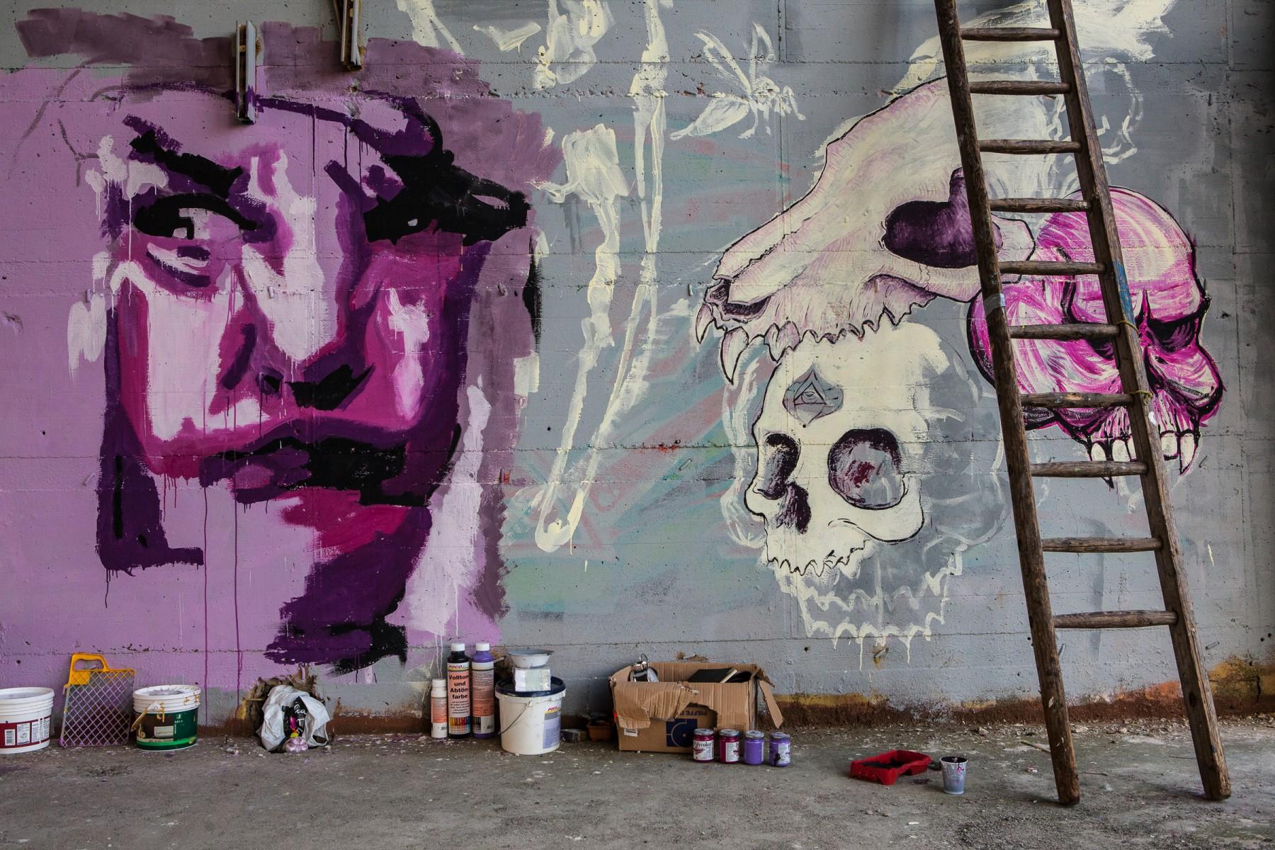 Graffiti Murals at Teufelsberg