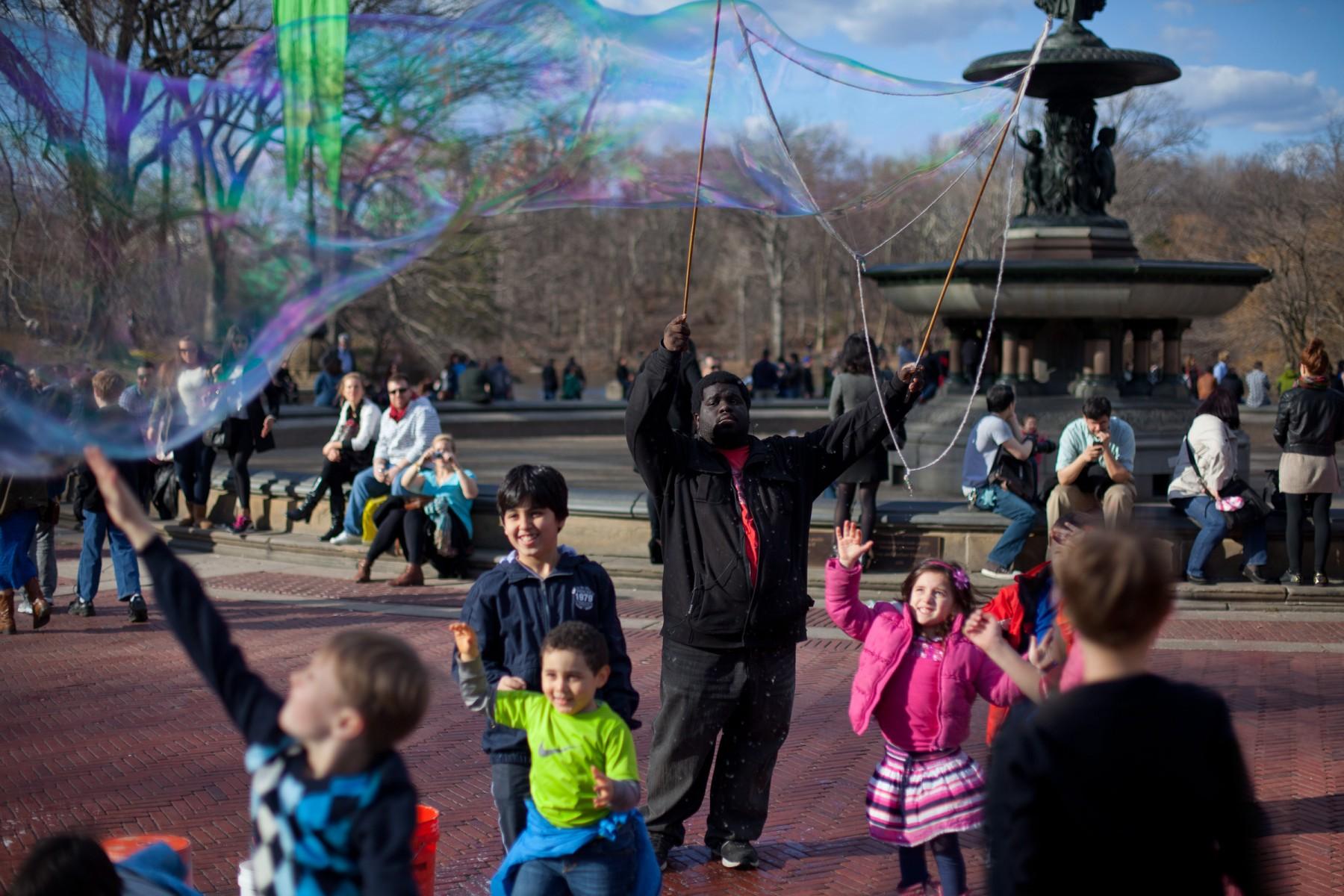 Central Park bubbles