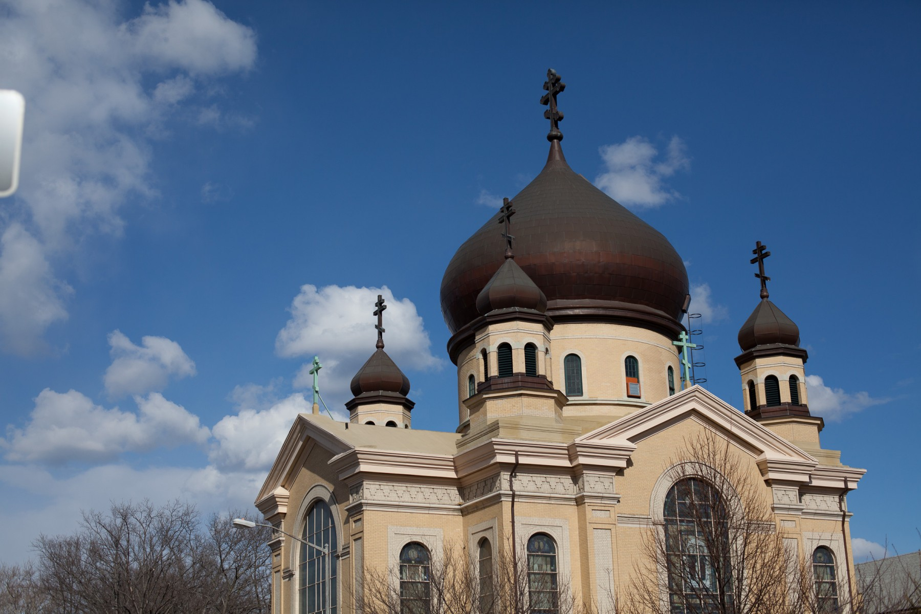 Russian Orthodox Cathedral of the Transfiguration in Willamsburg, Brooklyn.