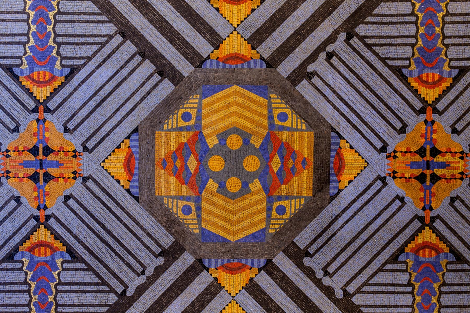 Elaborate mosaic found somewhere in Manhattan.