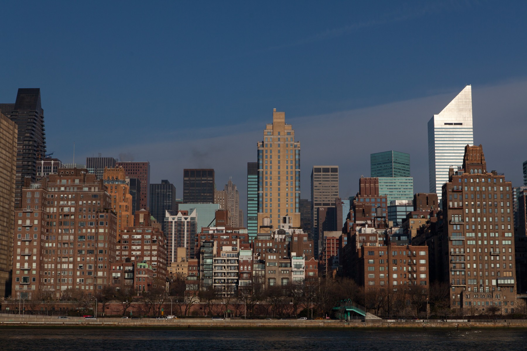 View Across the East River from Roosevelt Island, NYC.