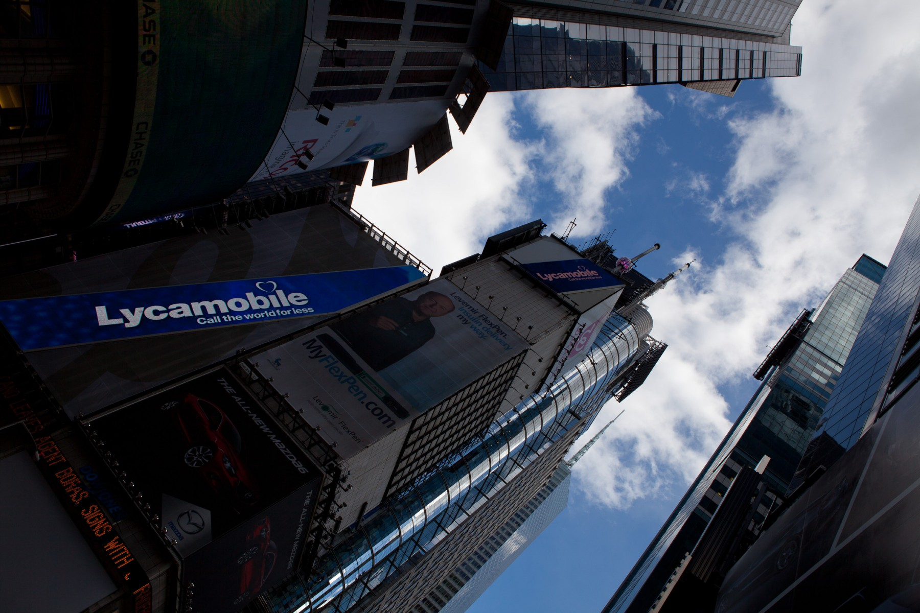 Skyscrapers in New York city.