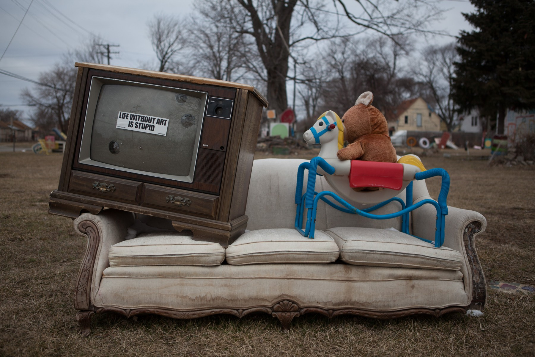 The Heidelberg Project is an outdoor art project in Detroit, Michigan. It was created in 1986 by artist Tyree Guyton and his grandfather Sam Mackeyas.