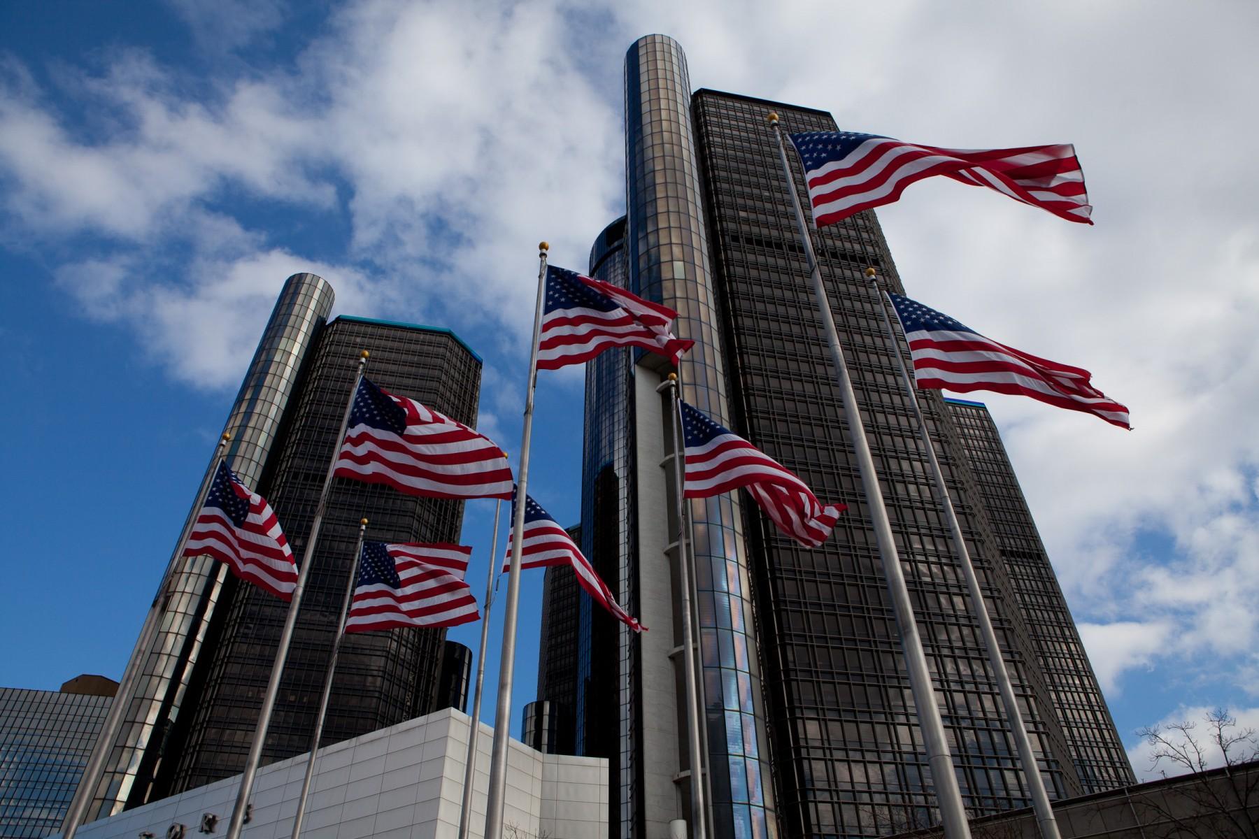 The Renaissance Center. Detroit, MI.