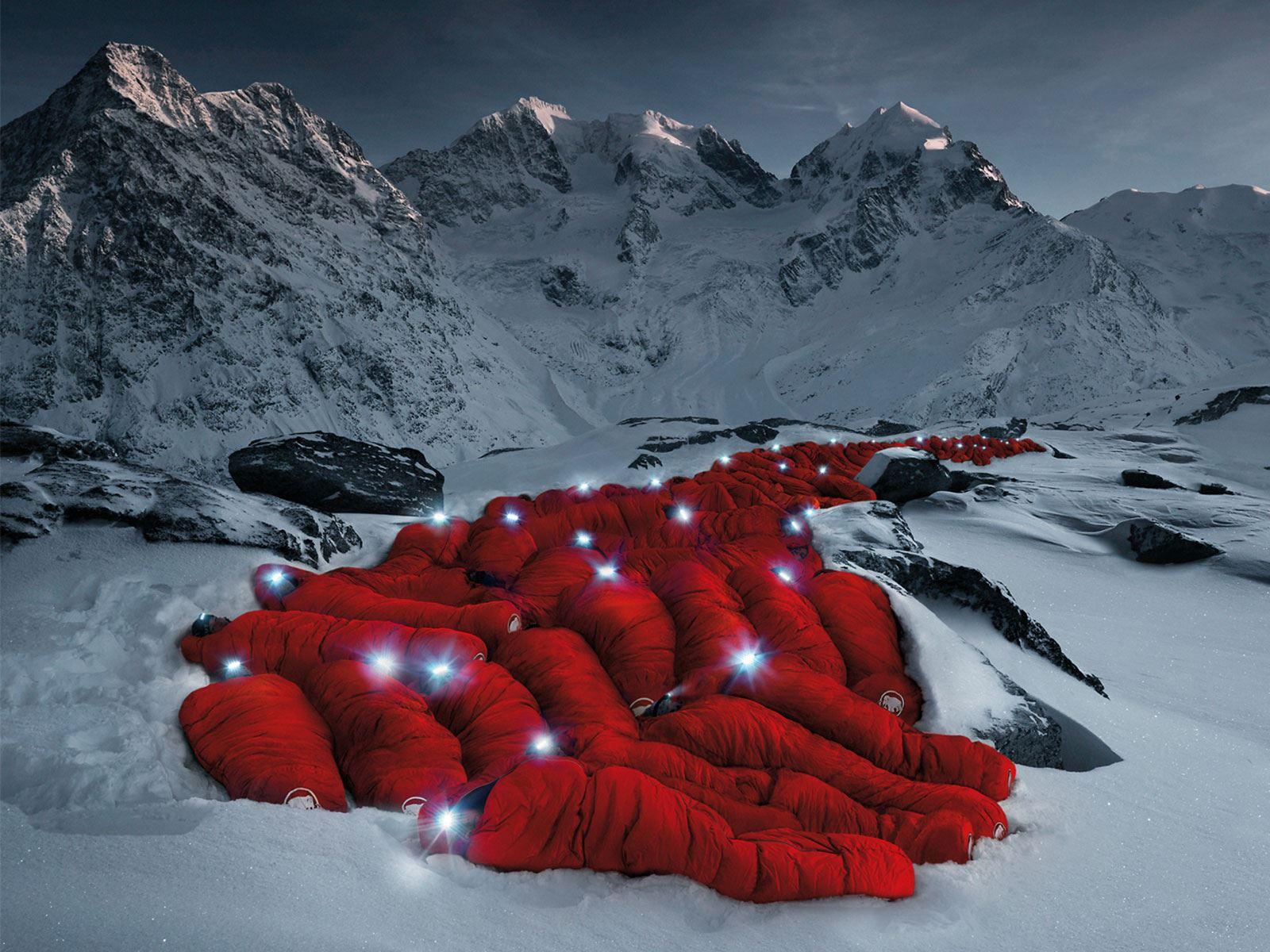 Mammut's sleeping bag glacier