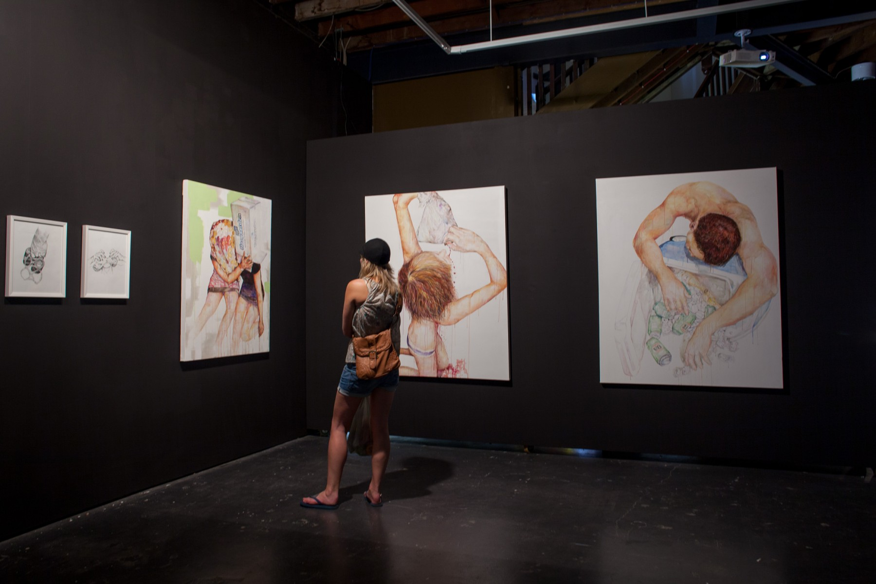 Paintings by Susannah Hart. Part of the VCA's 2009 Graduate Exhibition.