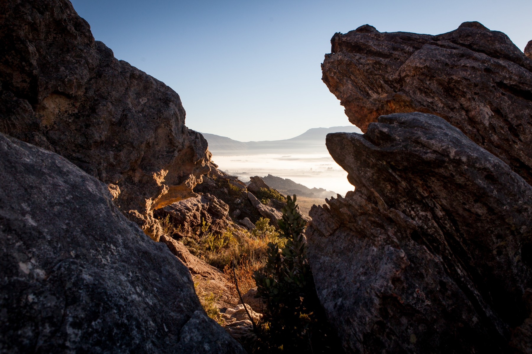 Rocks above Mitchell's pass near South Africa's Ceres valley.