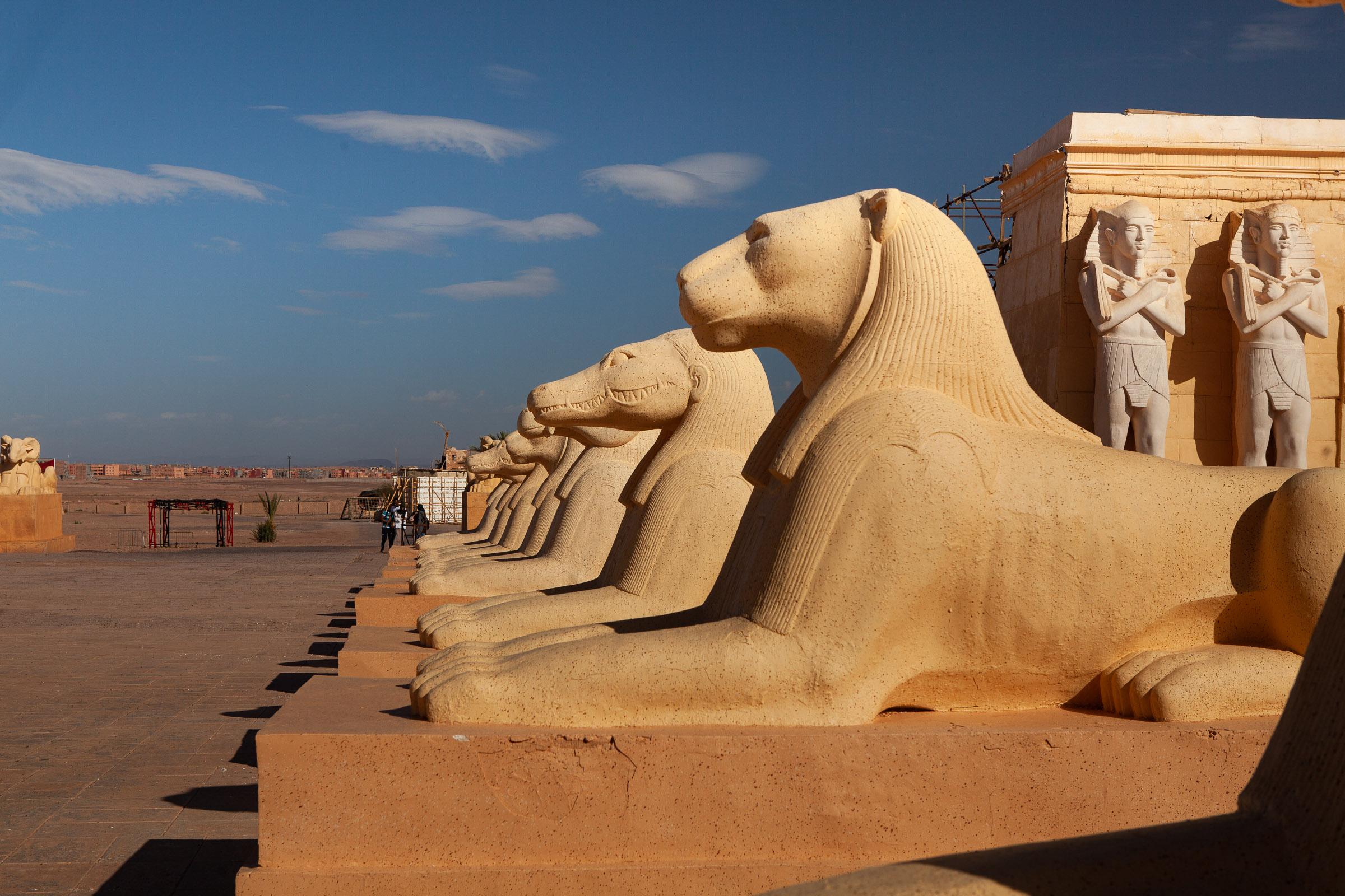 Egyptian film set