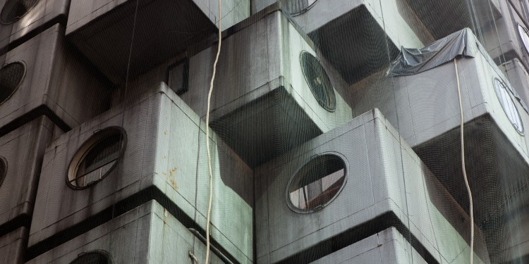 The Nagakin Capsule Tower designed by architect Kisho Kurokawa