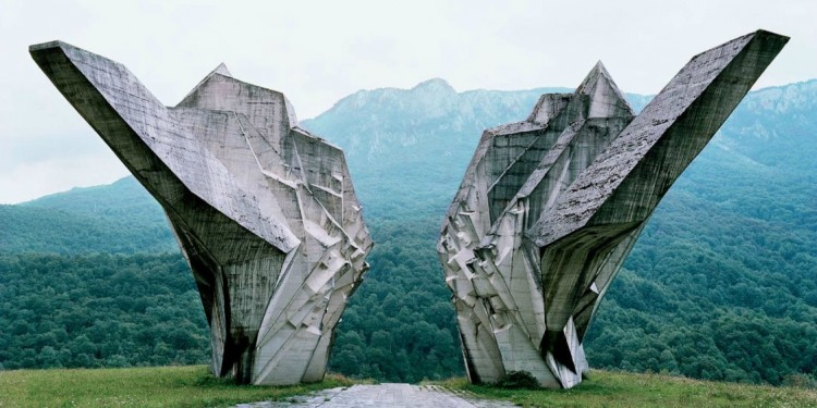 Memorial in Tjentište, Bosnia and Herzegovina, that commemorates the battle of the Sutjeska.