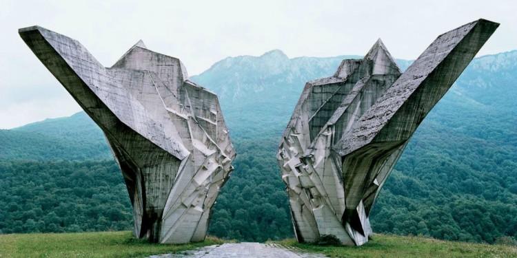 Memorial in Tjentište, Bosnia and Herzegovina, that commemorates the battle of the Sutjeska.