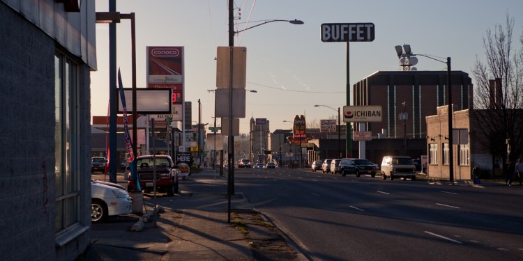 The wide boulevard of West 3rd Avenue.  In Spokane there are 4 Arby's, 5 Wendy's, 5 KFCs, 6 Burger Kings, 7 Dominos, 9 Jack In the Boxes, 9 Taco Bells, 10 Pizza Huts, 14 McDonalds and 20 Subway restaurants.