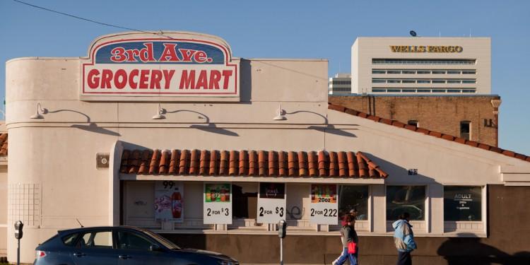 Grocery store in downtown Spokane, Washington.