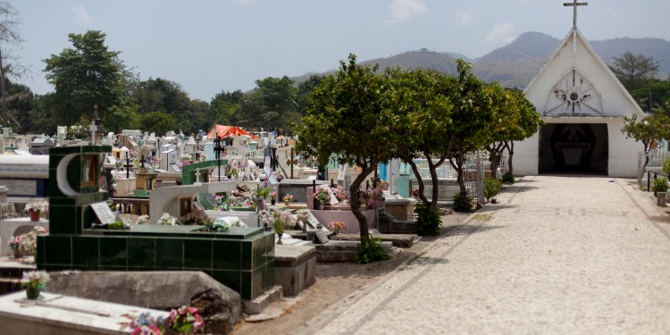 The central cemetery in Dili- site of the Santa Cruz massacre in 1991 in which Indonesian troops killed more than 250 people gathered to mourn the death of Sebastião Gomes a young supporter of an independant Timor.
