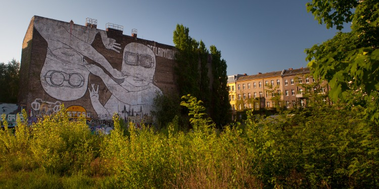 Giant paste-up by Italian street artist Blu