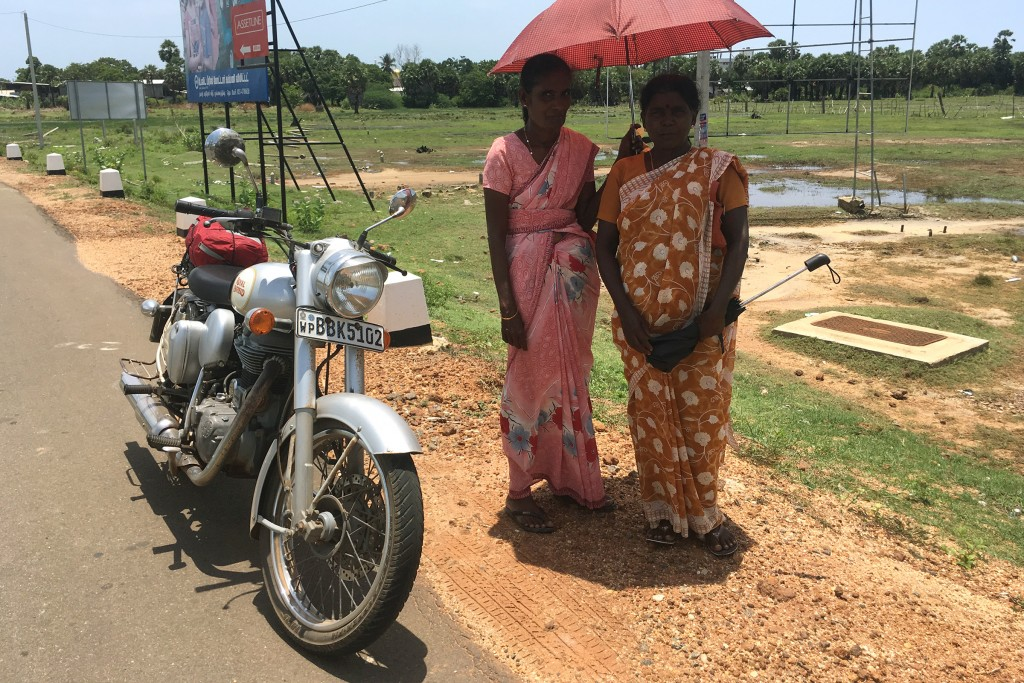 Women on the road to Mullaitivu - one of the last battlefields of the Sri Lankan civil war.