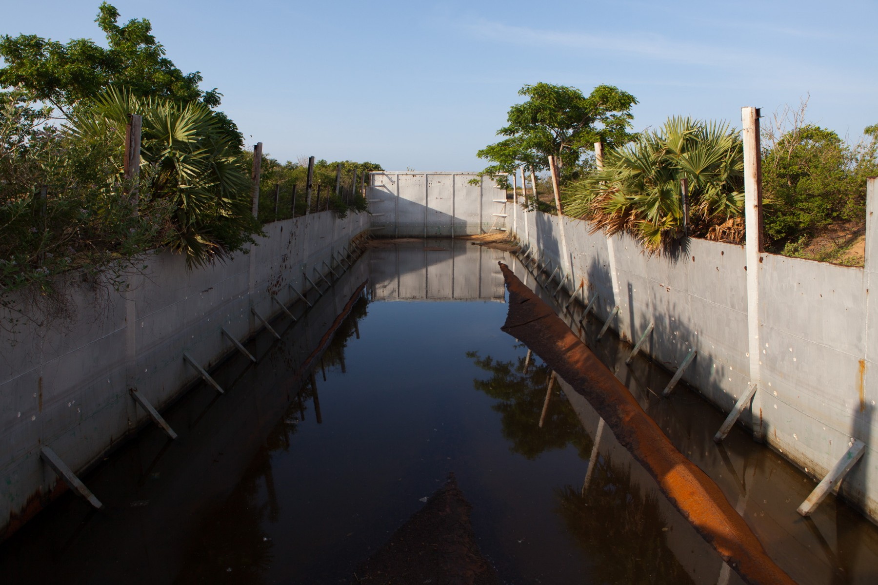 Pool used by the LTTE to test submarines and train divers for guerrilla warfare.
