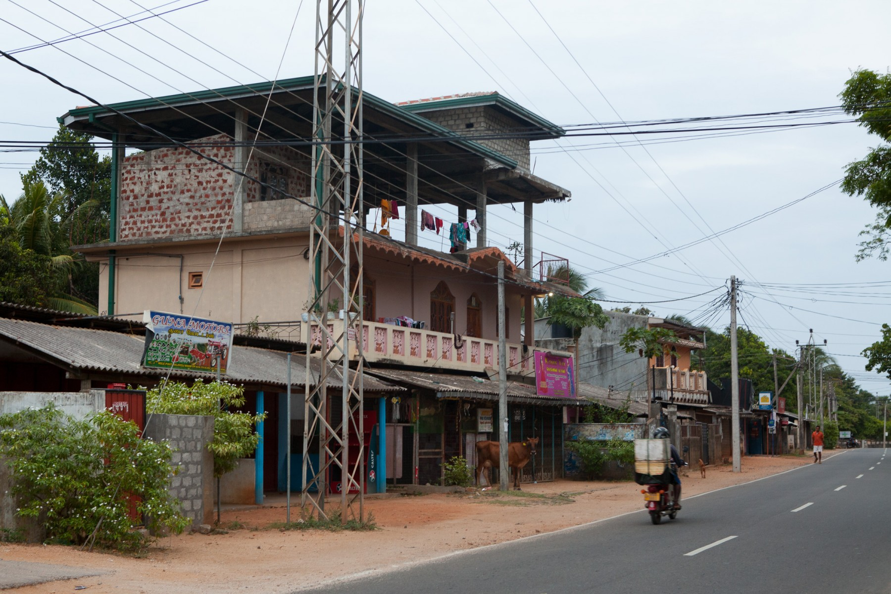 Typical suburban buildings in Uppuveli in the east-coast city of Trincomalee.