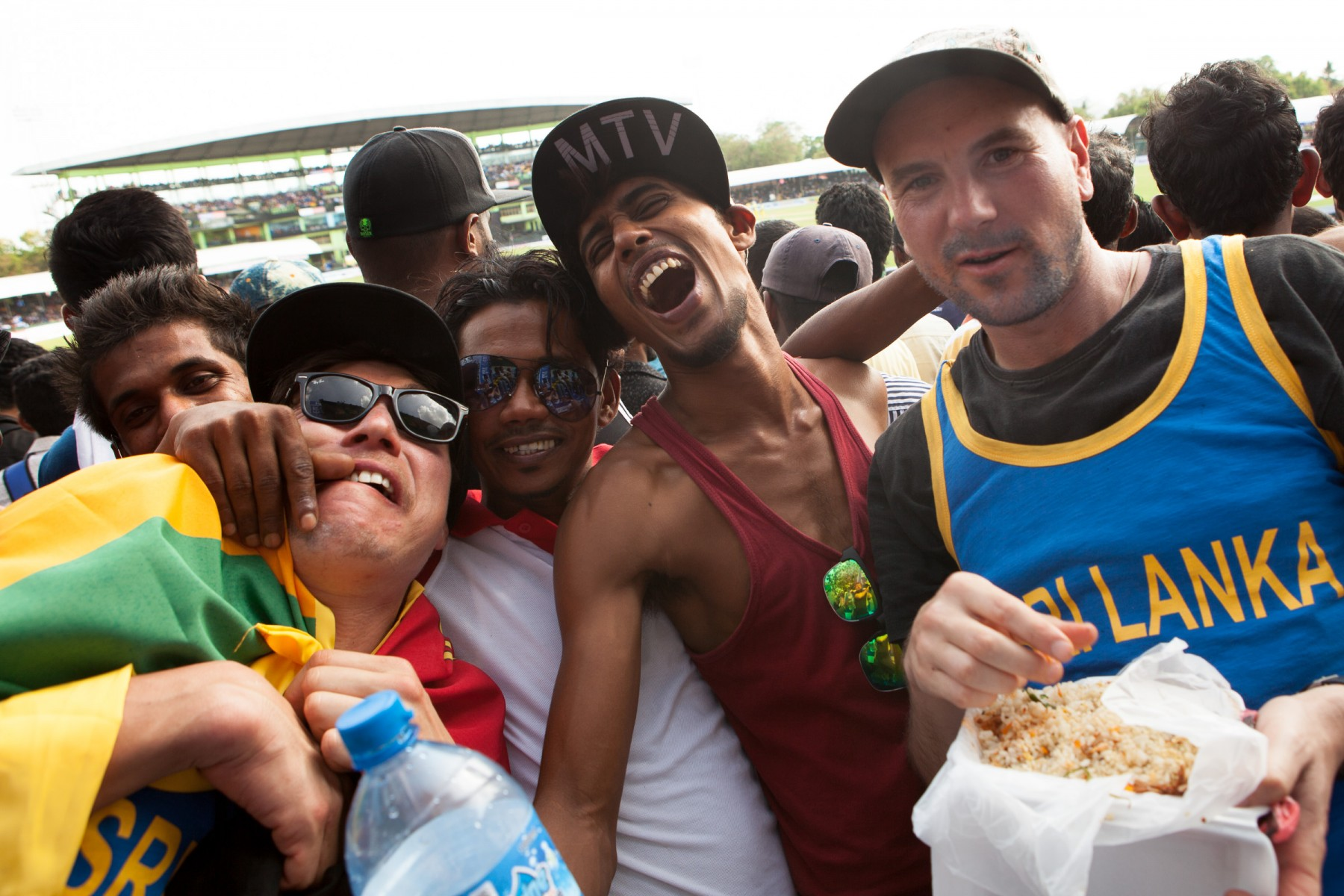 Ryan gets up close and personal with the locals and Dambulla stadium during the one-day international.