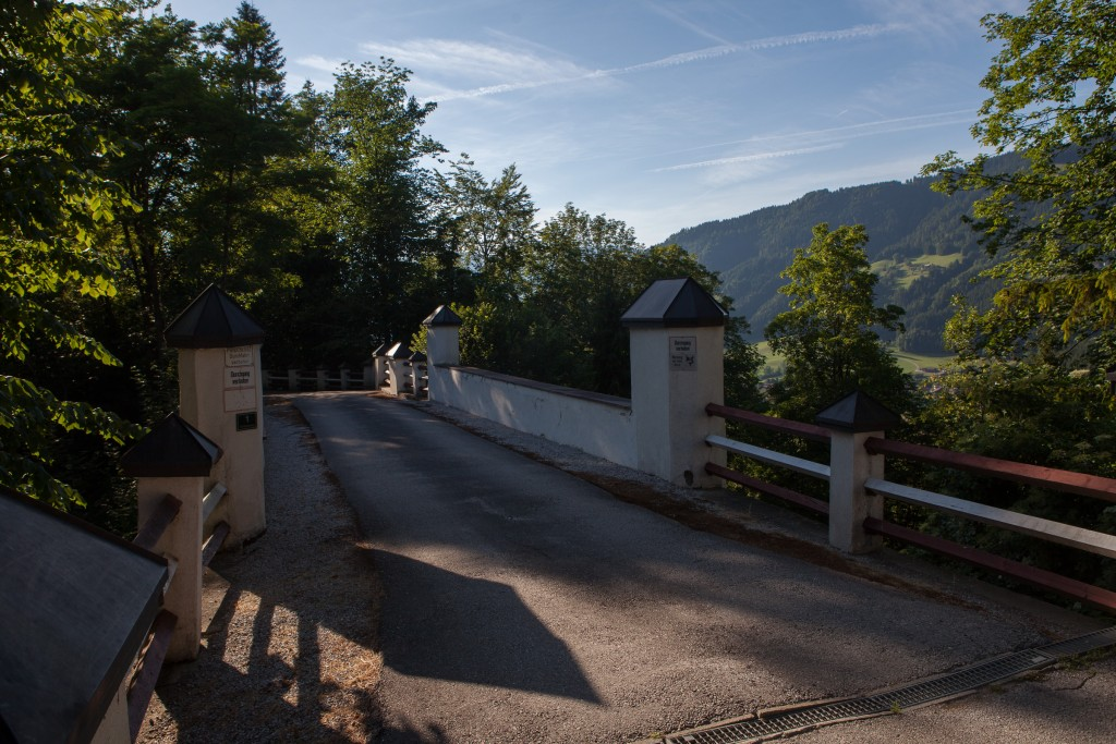 The entrance to Castle Itter in Tyrol where German and American forces fought side by side in the last days of WWII to liberate French prisoners including former prime ministers, generals and a tennis star.