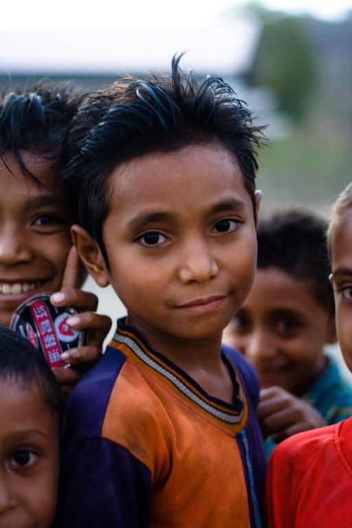 Portrait of boys in Zumalai. More than one third of the Timorese population are under the age of 14. Many of these children have been orphaned by disease and war.