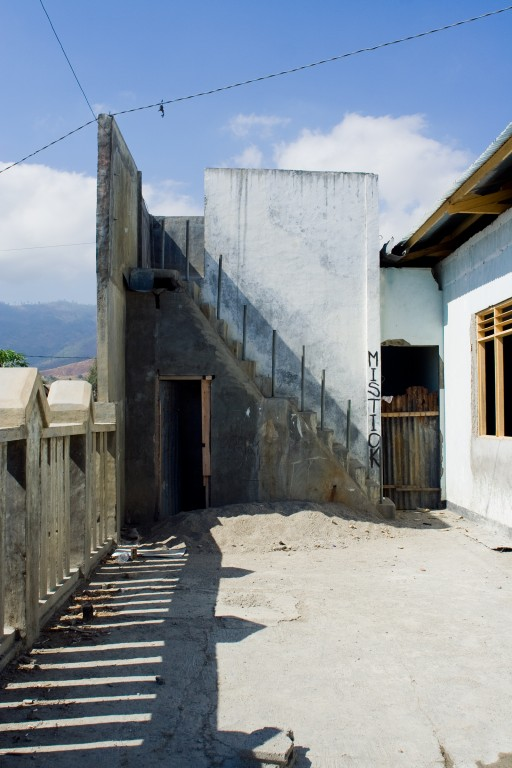 Shadows over a yard in Dili.