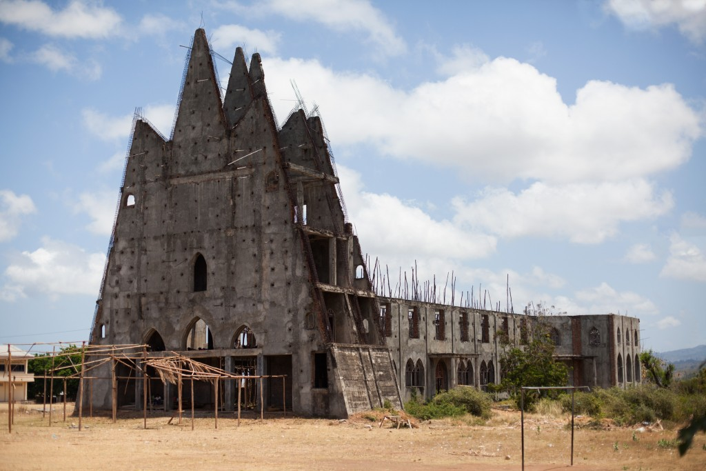 A church in Suai abandoned during construction.