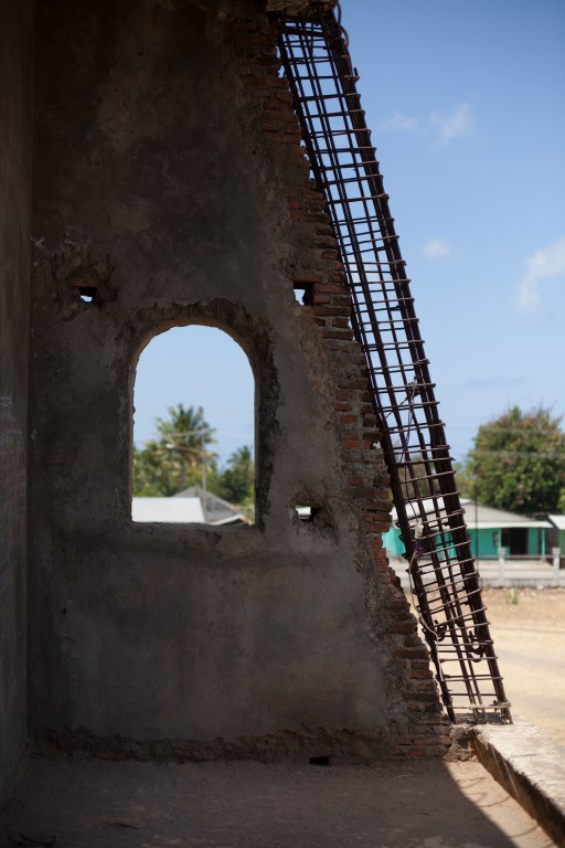 View from the abandoned church in Suai.