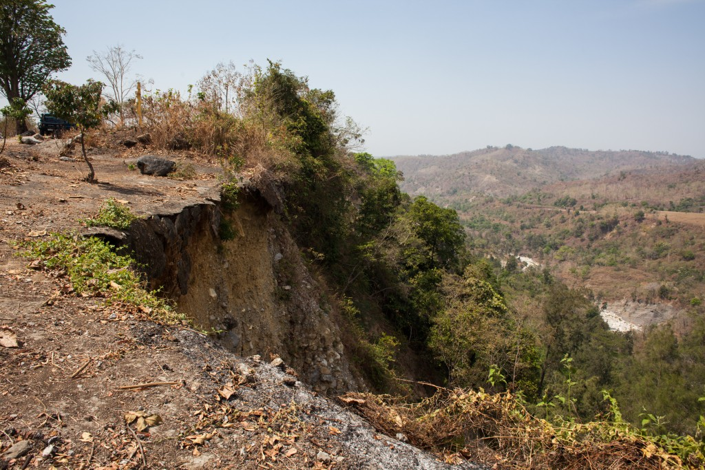 The notorious cliffs at Hatu Builico where political prisoners were murdered by the Indonesian army and their militias.