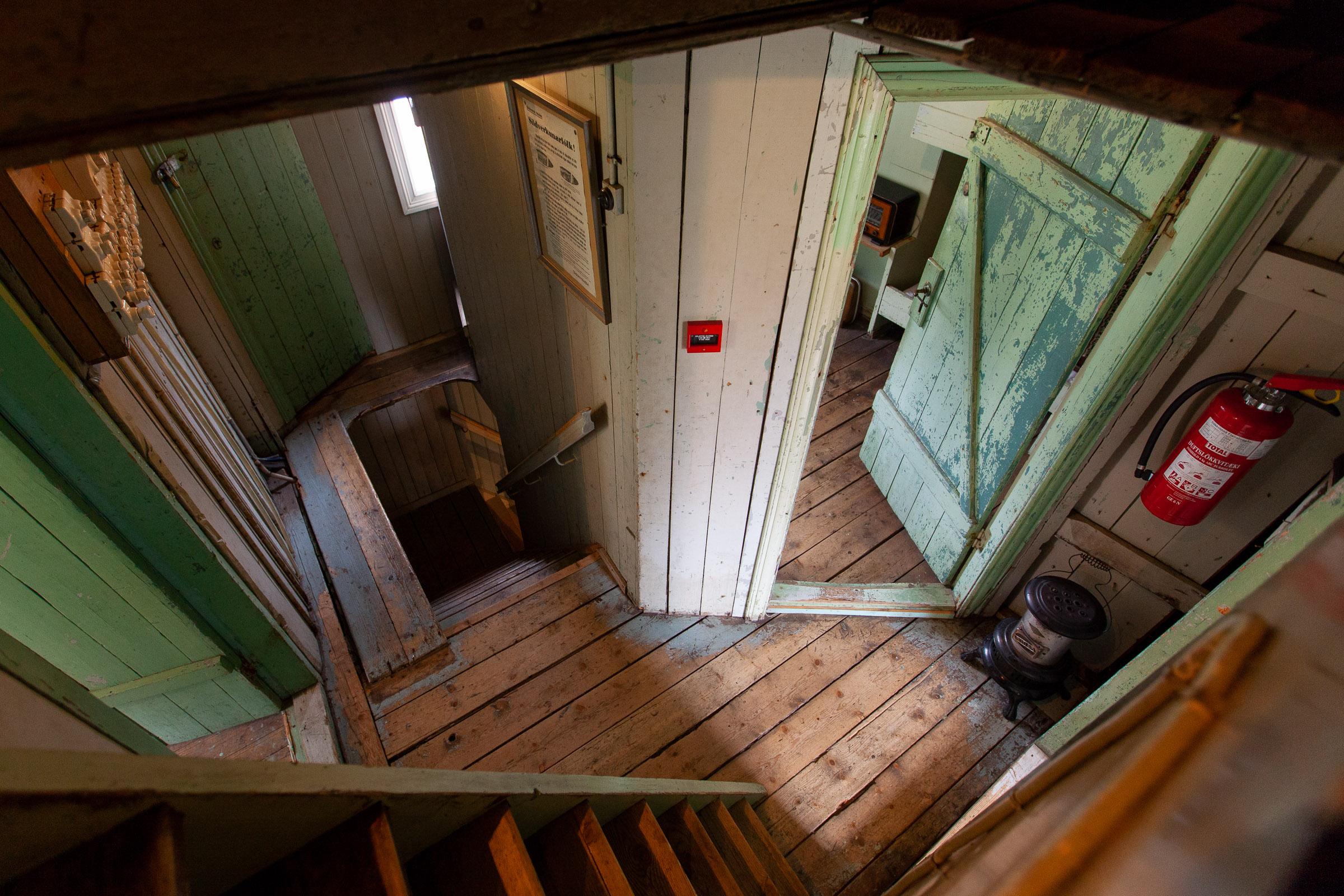 Doors and steps inside the Herring Era Museum