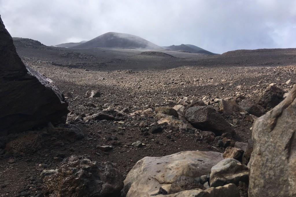 Looking up through the rocks near the summit of Mauna Kea on Hawaii's Big Island.