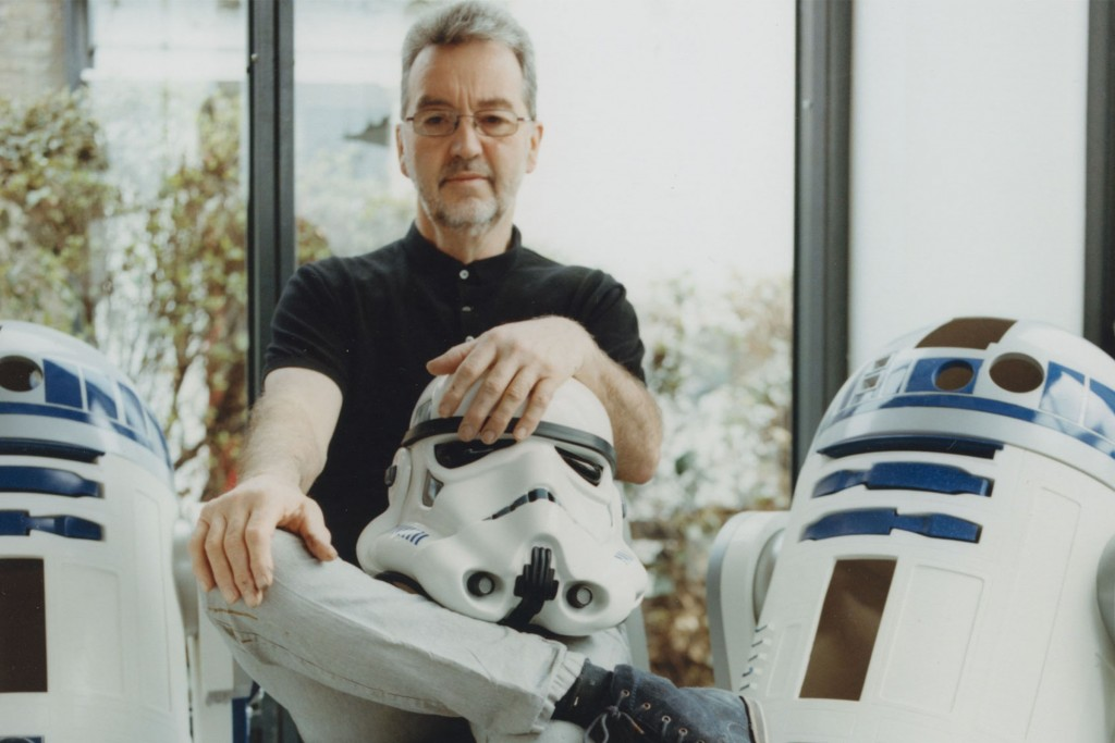 "Prop designer Andrew Ainsworth who made the original plastic moulds for the stormtrooper costume. He fought a copyright battle with Lucas's production company to get permission to reproduce the stromtrooper costumes and now runs a healthy business supplying suits to fans. ""It's a 99 per cent male market"" he says."